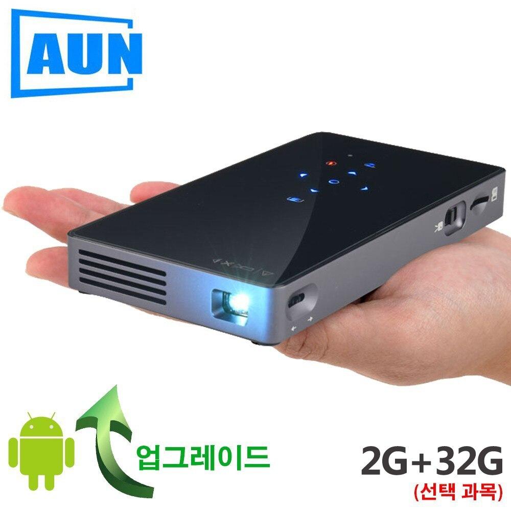 AUN projecteur intelligent, D5S, Android 7.1 (Optiona 2G + 32G) WIFI, Bluetooth, HDMI, Home Cinéma mini projecteur, 3D Cinéma