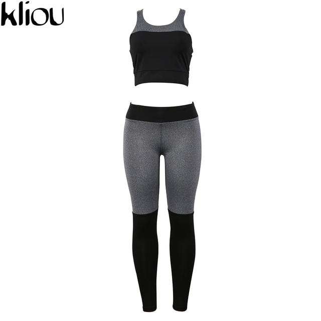 Casual Sporting Tracksuit Women 2 Piece Set Fitness Clothes Workout Sportswear For Female High Waist Leggings And Bra Suit 3