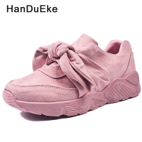 Pink Sneakers Fashion Women Shoes 2018 Spring New Court Style Girl Series Silk Butterfly Knot Slip