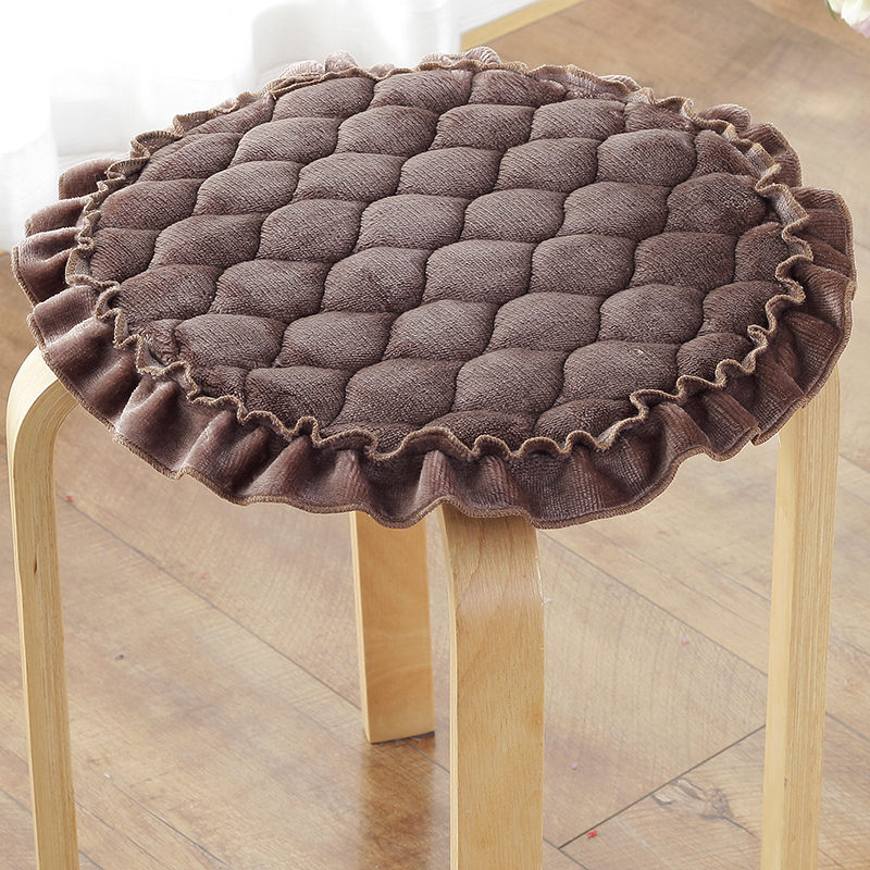Round Velvet Chair Cushions 11 Colors Available Warm Seat Cushion Bolster Buttocks Tie On The Pad Traditional Chinese Cushion