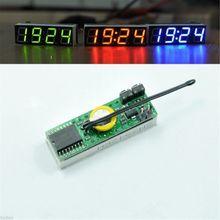 赤3で1 led ds3231snデジタルクロック温度電圧モジュールdiy電子