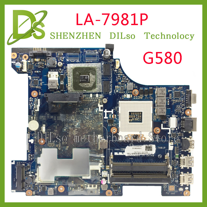цена KEFU LA-7981P g580 motherboard For Lenovo G580 QIWG5_G6_G9 LA-7981P REV:1.0 laptop motherboard 100% tested mainboard