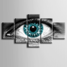 Wholesale 5 pieces / set of Abstract eyes wall art for decorating home Decorative painting on canvas framed /ZT-3-14
