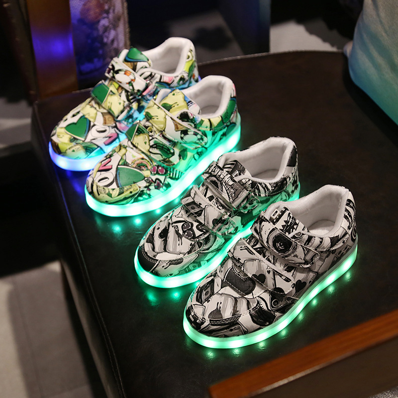 Mother & Kids Shoes For Boys Tenis Luminous Sneakers Lights Up Shoes Simulation Glowing Baby Sping 2018 Runing Shoes Buty Led Child Shoes Nmd