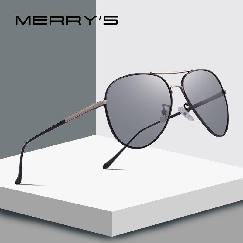 MERRYS DESIGN Men Classic Polarized Photochromic Sunglasses Chameleon Driving Sunglasses 100% UV Protection S8177
