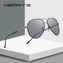 MERRYS tasarım erkekler klasik polarize fotokromik güneş gözlüğü bukalemun sürüş güneş gözlüğü 100% UV koruma S8177