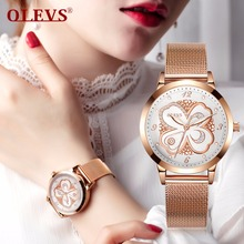 OLEVS Rose Gold Watch Women Japan Quartz Watches Ladies Top Brand Luxury Female Wrist Watch Girl gift Clock relogio feminino NEW цена и фото