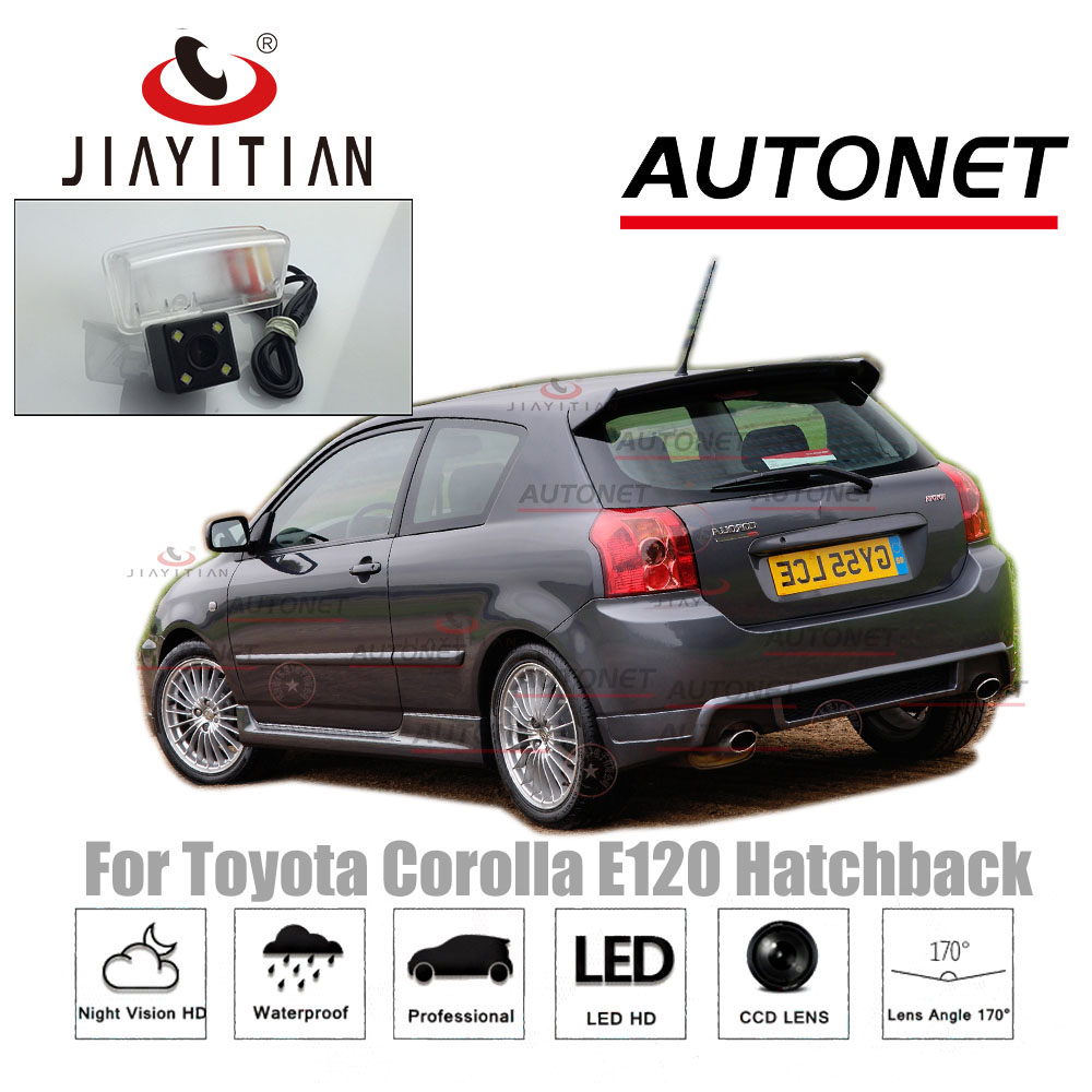 JiaYiTian rear camera For Toyota Corolla E120 Hatch 2003 2004 2005 2006 Reverse camera CCD Night Vision license plate camera