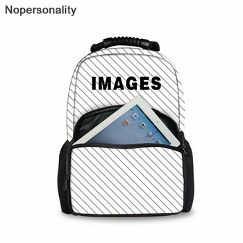 цена на Nopersonality Custom Your Picture/Logo School Bag for Teenage Book Bag Boys Girl Schoolbag Adults Multifunction Backpack Set