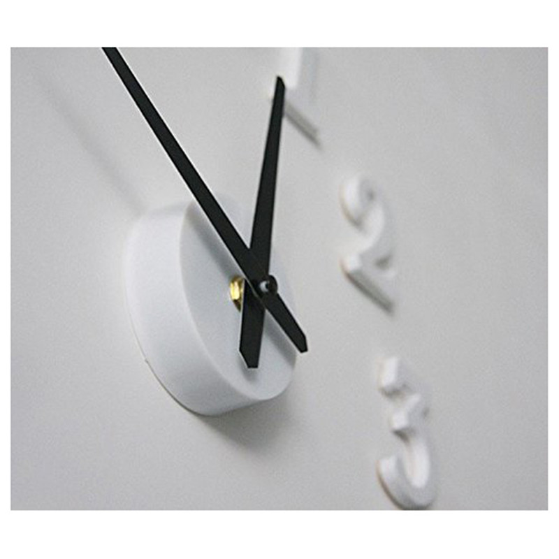 LBER Unique Design Home Decor Wall Clock White Stickers Living Room Diy Horloge 3d Creative Fashion Sticker Watch Decoratio