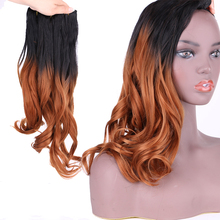 Synthetic Ombre body wave hair weaving extensions 3 pieces one lot 210g for full head Dream ice's