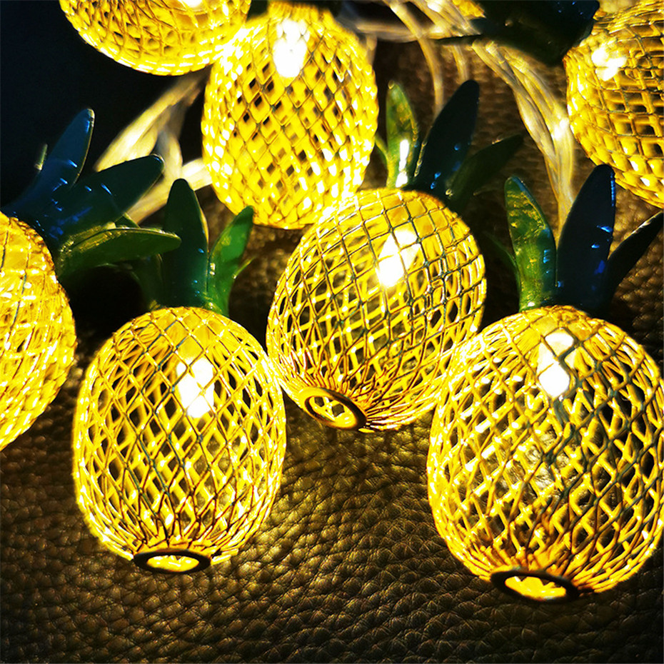 3M Pineapple LED Night Lights String Fairy Light 10/20 Lanterns String Lamp For New Year Christmas Valentines Wedding Decoration