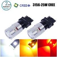 2x Bosmaa 3156 led High Power Chips Bernstein Gelb Blinker Weiß T25 autolampen Rot Auto Lichtquelle lampe