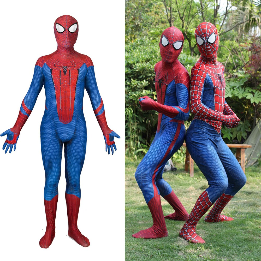 The Amazing Spiderman Costume Movie 3D Print Spandex Spider-man Superhero Costumes Zentai Zentai Suit For Adult Kids Halloween