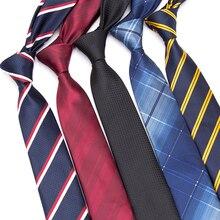 Men Ties Striped Business 6 CM Necktie Mens Wedding Parties Dress Jacquard for  Bow Tie Gravatas Slim Shirt Corbatas Para Hombre