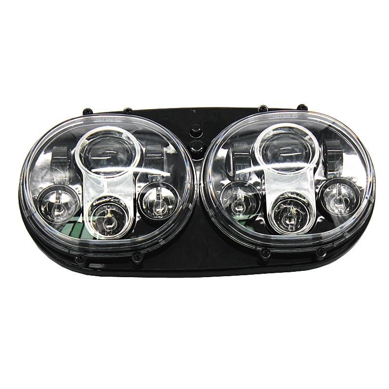 1 SET LED-strålkastare 2: a strålkastare Touring Road Glide-lampa - Bilbelysning - Foto 3