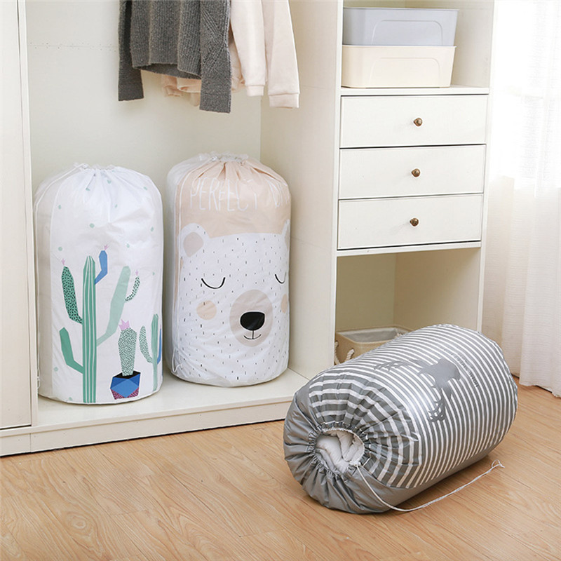 Generous Waterproof Portable Clothes Storage Bag Organizer 84x44cm Folding Closet Organizer For Pillow Quilt Blanket Bedding High Quality Home Storage & Organization