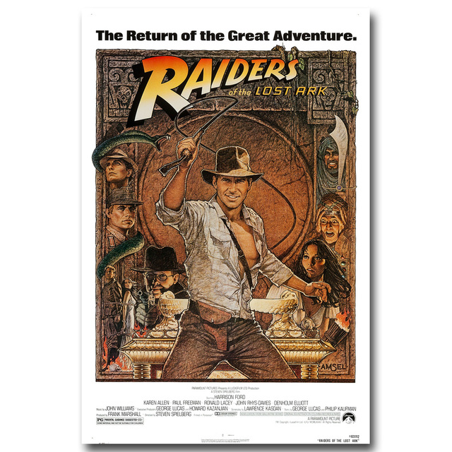INDIANA JONES and The Temple of Doom RARE HOT NEW Art Silk Fabric Poster Print 12×18 24×36″ Films Pictures For Room Decor 004
