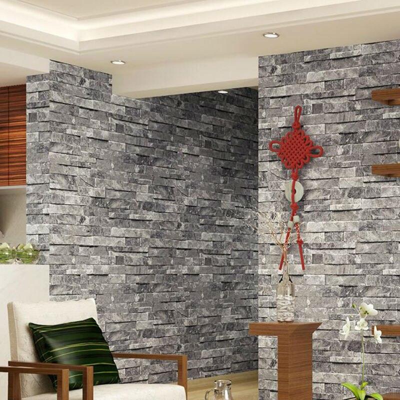 d pvc lavable exfoliante en relieve de ladrillo de piedra de paredes de papel tapiz