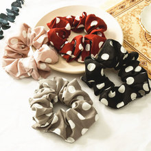 цена на Hair Bands For Women Women Elastic dots Hair Rope Ring Tie Scrunchie Ponytail Holder Hair Band Headband Elastic Hair Bands