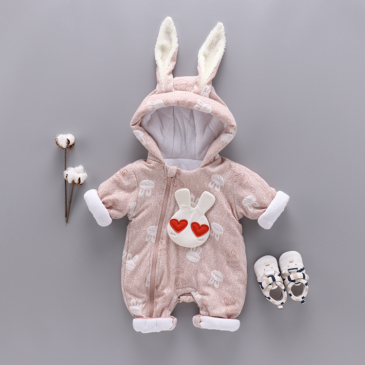 Christmas Baby Girl Clothes Winter Rompers Kids Infant Newborn Rabbit Jumpsuit Thickening Cotton Warm Romper for 0-24M newborn baby rompers baby clothing 100% cotton infant jumpsuit ropa bebe long sleeve girl boys rompers costumes baby romper
