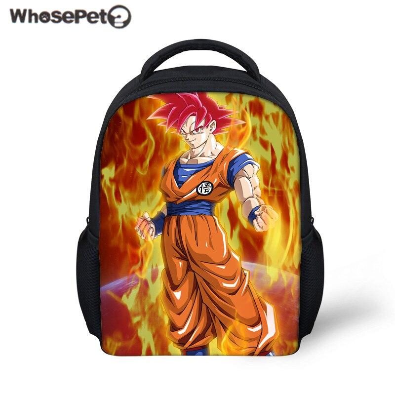 WHOSEPET Kids School Bag Dragon Ball Z Print School Backpack for Baby Boys Kindergarten  ...