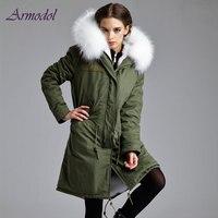 2017 Winter Women Furs Jacket Long hair Real Fox fur Jacket Long Coat Big Raccoon Hood Parka