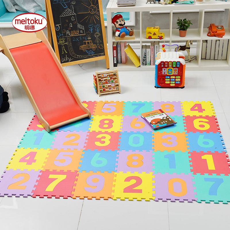 Eva Foam Puzzle Numbers 10 Tiles Play Mat For Children And