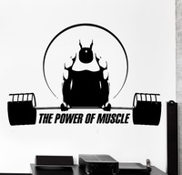 Fitness Sport Vinyl Wall Decal Gym Sport CrossFit Bodybuilding Art Mural Wall Sticker FitnessCentre Decor Wall Sticker For Room