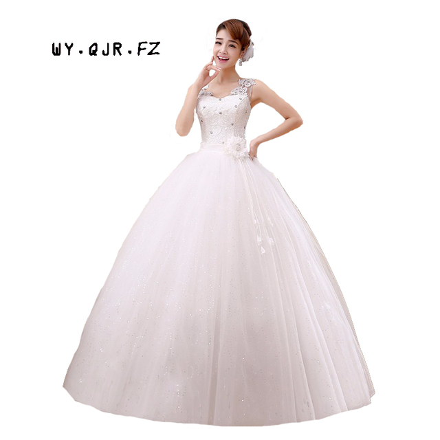 US $39.54 9% OFF|LYG H46#New 2019 Ball Gown winter spring fashion bride  wedding dress plus size show thin long cheap wholesale Dresses Sequins -in  ...
