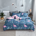 2018 New winter comforter bird thicken quilted quilts home bedding comforter printed edredom keep warm winter duvet with filling