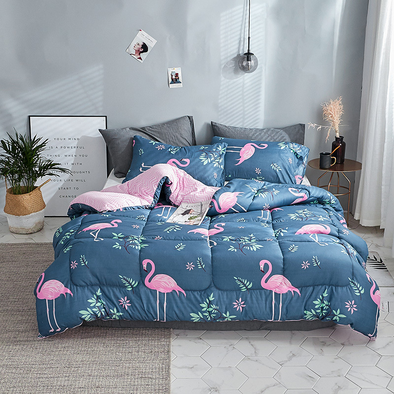 2019 New Winter Comforter Bird Thicken Quilted Quilts Home Bedding Comforter Printed Edredom Keep Warm Winter Duvet With Filling