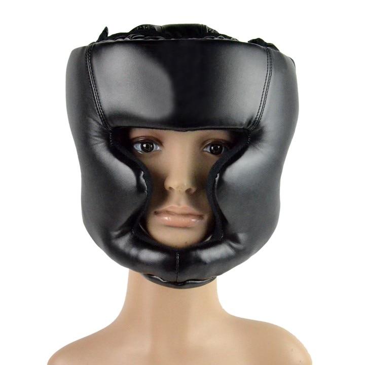 Prix pour Nouvelle Arrivée Noir Fermé Type De Boxe Tête Garde/Casque Sparring/Mma/Muay Thai Kickboxing Accolade/Tête garde Vitesse
