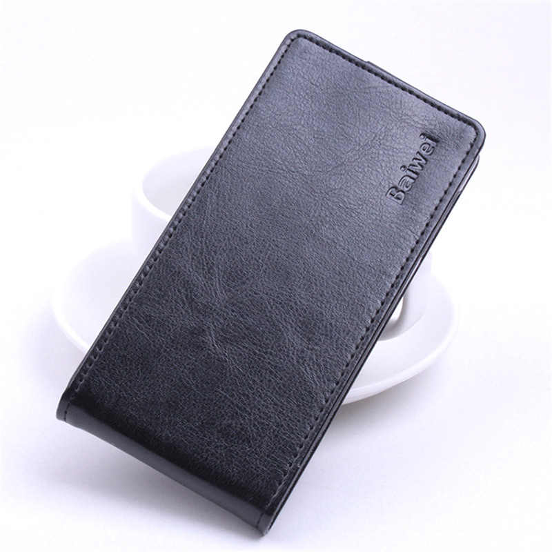 HongBaiwei For Blackview BV5000 Cover Up and Down PU Leather Cover For Blackview BV5000 Case Skin Flip Vertical Phone Cases