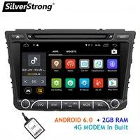 SilverStrong 4 ядра Android8.1 4G SIM автомобильный DVD для hyundai Creta IX25 2014 18 с 2 ГБ ОЗУ 4 Гб модем gps Радио Навигация