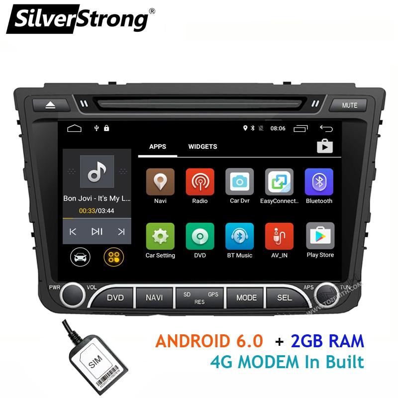 SilverStrong Quad 4Core Android 4G SIM Car DVD For Hyundai Creta IX25 2014-18 with 2GB RAM 4G MODEM GPS Radio Navigation silverstrong 7inch android8 0 universal 2 din car dvd 4g internet sim modem car radio auto stereo gps kd7000