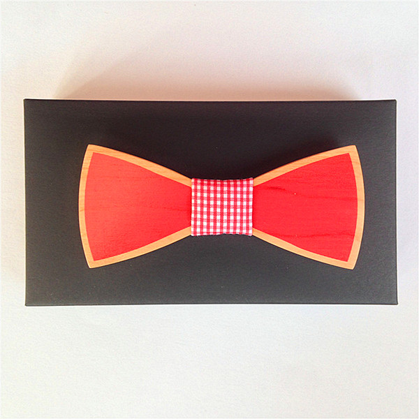 Colour Wood New Arrivel Brand Fashion Handmade Wood Bow Ties Bowtie Butterfly Gravata Ties For Men Geometric Wooden Bow Tie