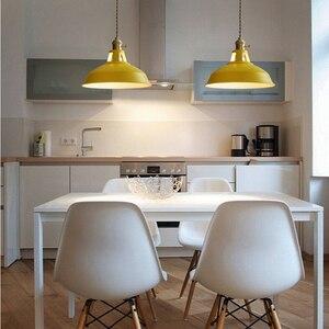 Image 5 - ססגוני צל LED Macarons תליון אורות מודרני מסעדת מנורה עם מתג תליון מנורות מעוות חוט עיצוב בית תאורה