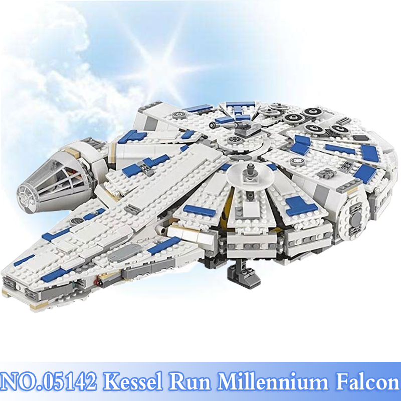 05142 Star War Series 1584Pcs Kessel Run Millennium Falcon Figures Building Blocks Bricks Sets Toys For Children Model Kit 75212