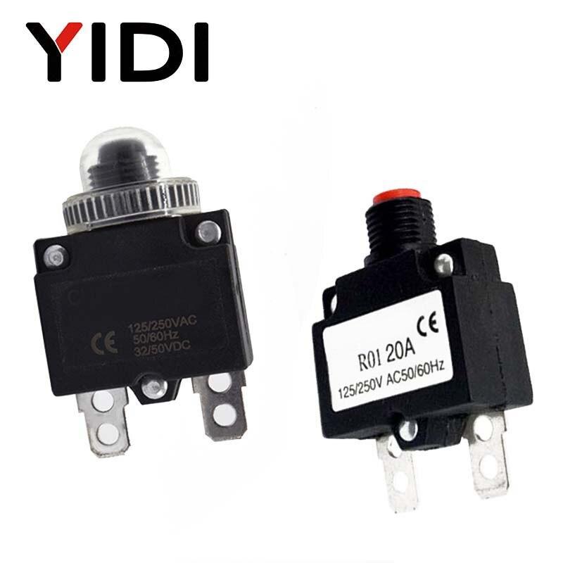 125//250VAC 5A Push Button Compressor Circuit Breaker Overload Protector