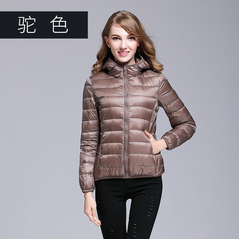 Omlesa 2017 Hooded 90% White Duck Jacket Autumn Winter 14 Colors New Warm Slim Zipper Women Fashion Light   Down     Coat   S-3XL S6002