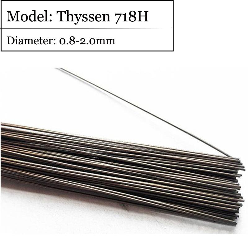 1KG/Pack GM Mould welding wire Thyssen 718H for Welders (0.8/1.0/1.2/2.0mm) T012011 professional welding wire feeder 24v wire feed assembly 0 8 1 0mm 03 04 detault wire feeder mig mag welding machine ssj 18
