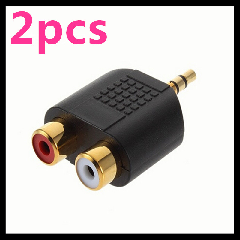 2pcs Multi Useful Gold Plated 3.5mm Stereo Audio Male Plug to 2 RCA female Jack Y Splitter Adapter 3.5 Jack Conector 1pcs high quality 6 35mm 1 4 mono plug to rca m f male female jack audio adapter connector gold plated industrial terminals