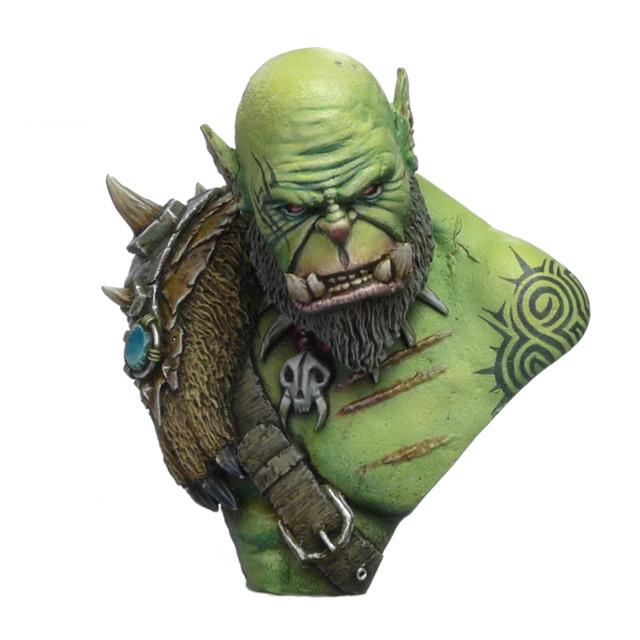 GK 1/10 ORC Commander Baldum Bust Garage Resin Figure