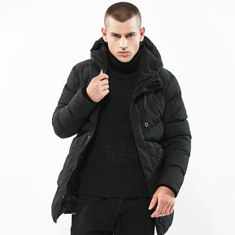 18hot Vintage Herren Winter Jacken Große Größe M-3xl Neue Ankunft Dünne Baumwolle Mit Kapuze Parkas Lässig Masculino Mode Mäntel Schwarz Schrumpffrei