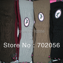 2015 winter Knitted Arm Warmers Fingerless long Gloves 24 pairs/lot mixed colors #3415