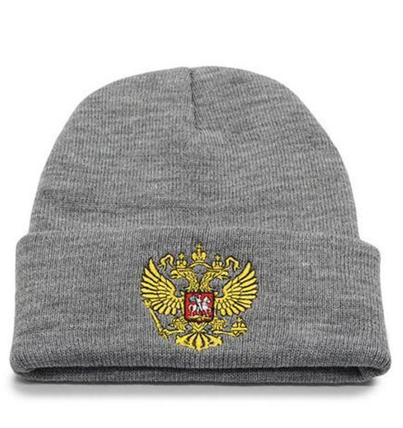 Winter Knitted Hat Russian Emblem   Skullies     Beanies   Winter Hats For Men Women Brand Caps Warm Baggy Gorras Bonnet Cap Hat