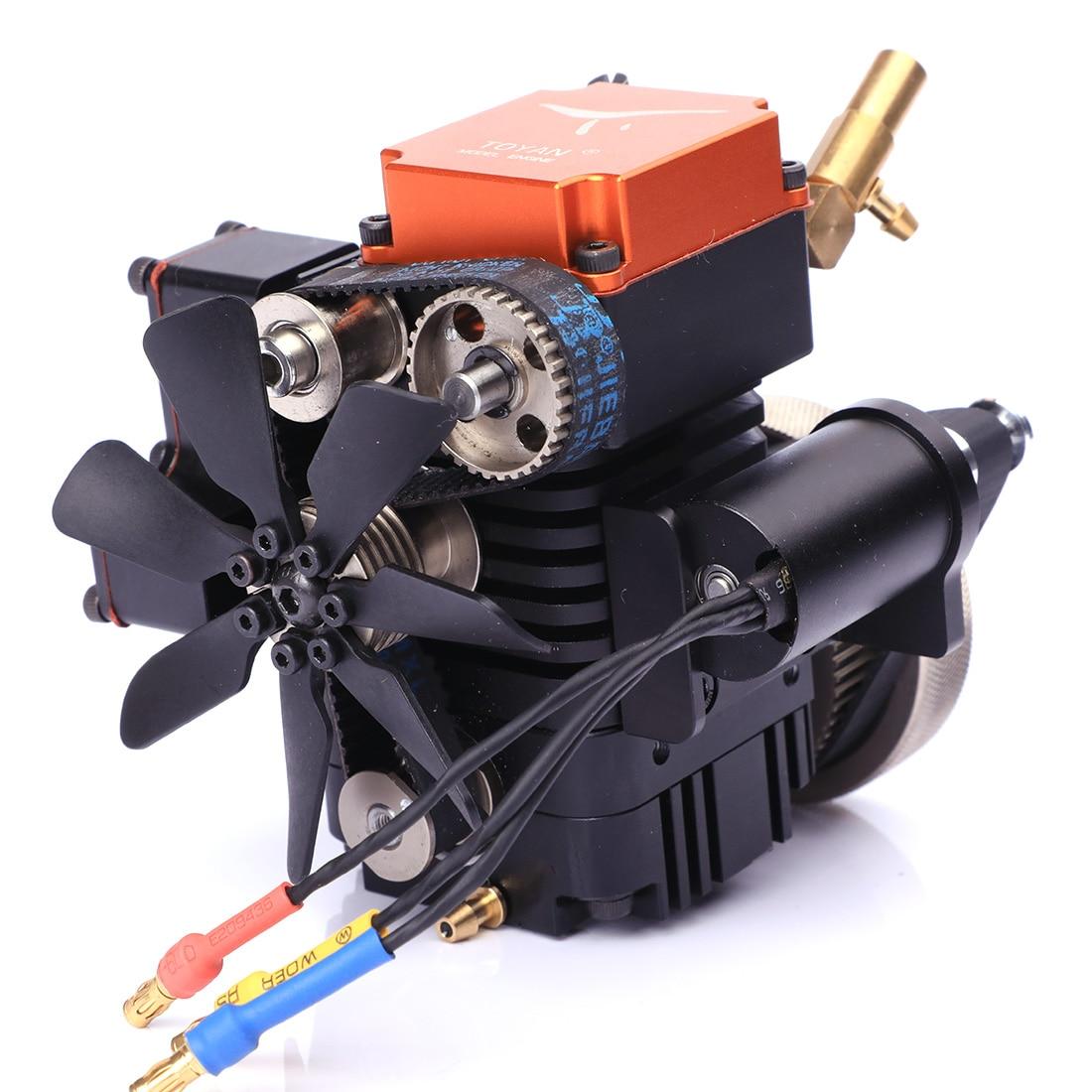 Motor de modelo de metanol de cuatro tiempos Toyan con Motor de arranque para 1:10 1:12 1:14 RC coche barco avión FS S100G-in Kits de construcción de maquetas from Juguetes y pasatiempos    2