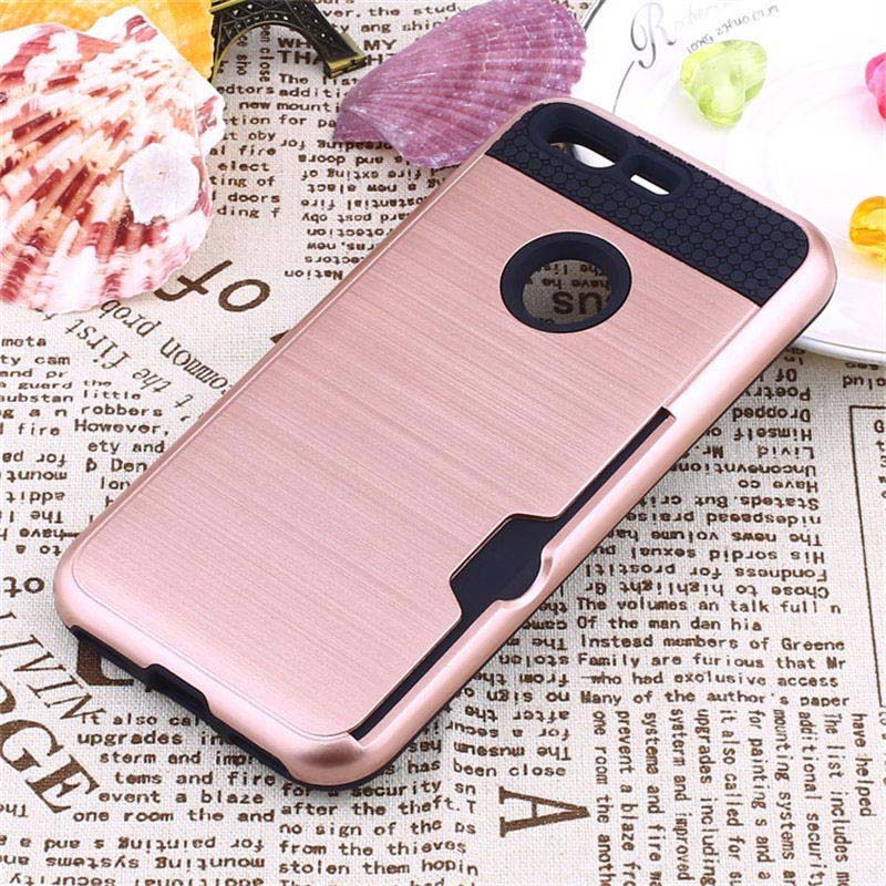 For HTC Google Pixel Case Brushed Hybrid Shockproof Rubber Silicone Cover For Pixel 5.0 Inch PC Phone Cases With Card Slots