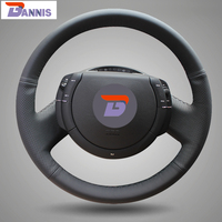 Black Artificial Leather DIY Hand Stitched Steering Wheel Cover For Citroen Triumph Old C4 C Quatre